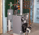 Oil fired Peerless hydronic system photo.